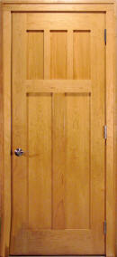 solid wood flat panel house doors
