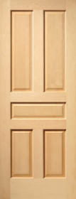 wood veneer raised panel house doors